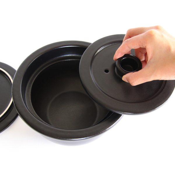 電子レンジで使える、便利でおしゃれな土鍋ご飯釜