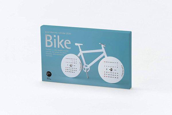自転車のかたちをした、おしゃれなペーパーキットカレンダー2020年版