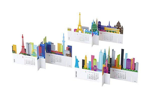 世界の都市をモチーフにした、おしゃれなカレンダー2021年版