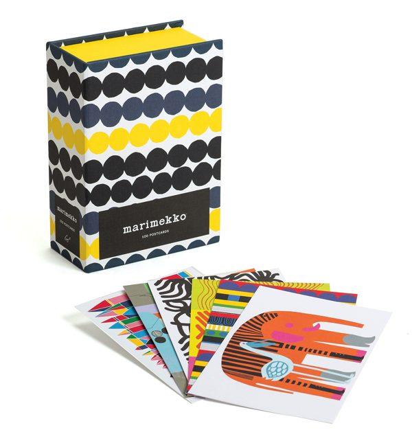 テキスタイルパターンが一度に楽しめる、おしゃれなポストカード100枚セット