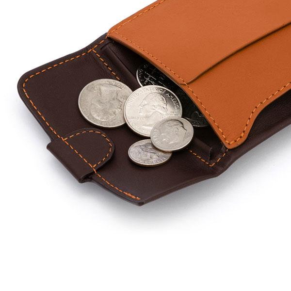小銭・紙幣・カードに素早くアクセスできる、スリムでおしゃれな財布