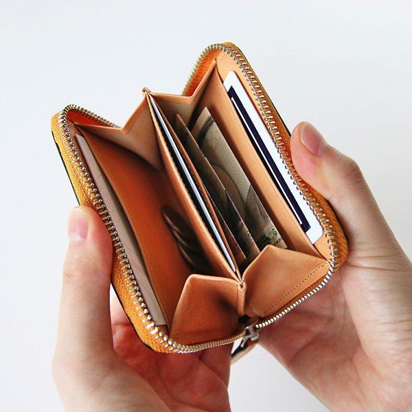職人による丁寧なつくりの、おしゃれな革製のミニ財布