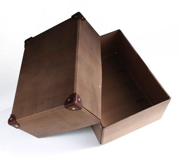 使い込むほどに深みが増す、おしゃれな収納ボックス