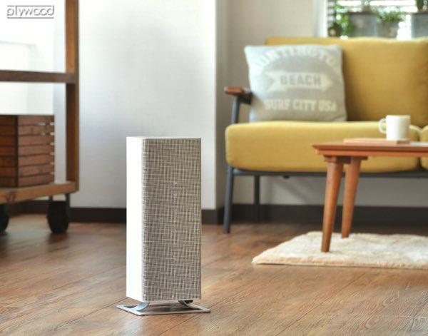 ハイパワー温風でお部屋を急速に暖める、シンプルなデザインが魅力のおしゃれなファンヒーター