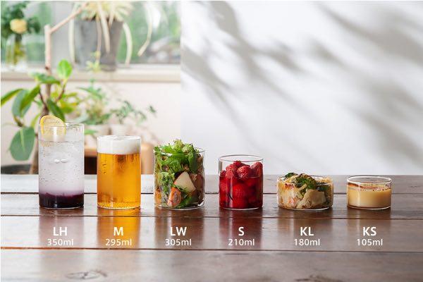 料理や花瓶、小物の収納など色々な使いみちができる、おしゃれな耐熱グラス