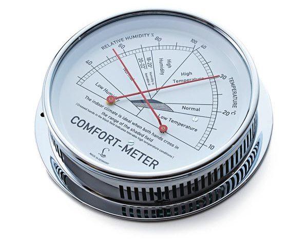 シンプルなデザインの、おしゃれなドイツ製の温度計