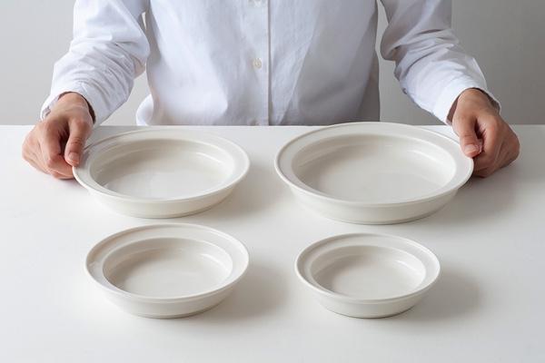 最後の一口までうまくすくえる、おしゃれな深皿