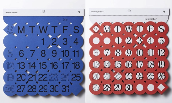 月ごとのイメージをデザインした、ユニークでおしゃれなカレンダー2020年版
