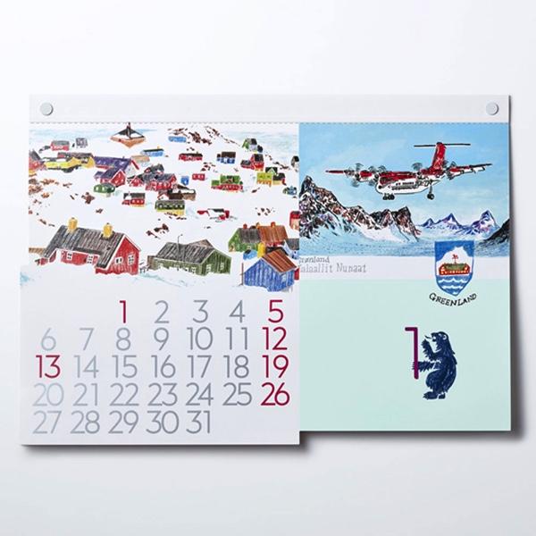 毎月違った国の日常風景を切り取った、おしゃれなカレンダー2020年版
