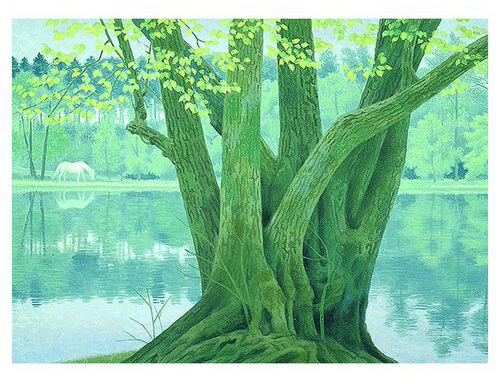 昭和を代表する日本画家の、おしゃれな大判アートカレンダー2020年版
