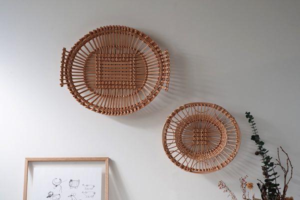 リトアニアの工房で手作業で作られた、おしゃれなバスケット