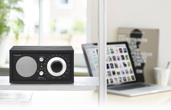 モノクロのデザインがおしゃれな、Bluetoothスピーカーとしても使える高級ラジオ
