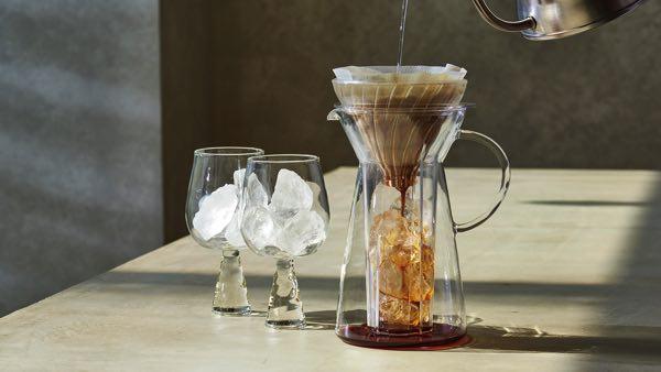 コーヒーを急冷させ美味しく淹れることができる、おしゃれなアイスコーヒーメーカー