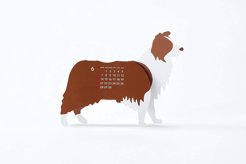 犬をモチーフにした、おしゃれな卓上カレンダー2021年版