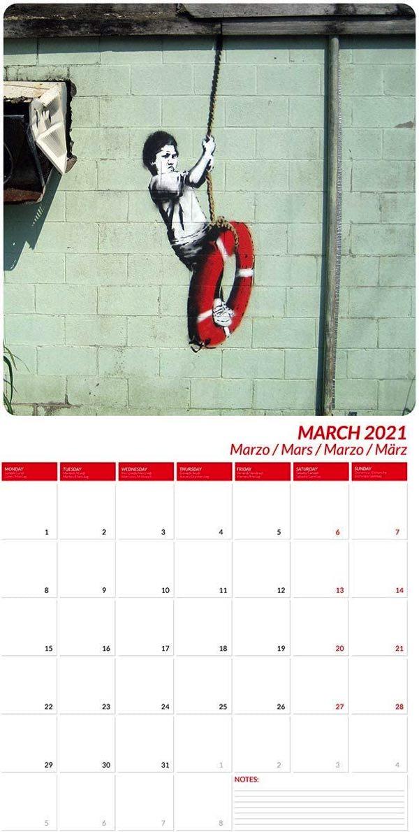 芸術家バンクシーの作品を凝縮した、おすすめの壁掛けカレンダー2021年版