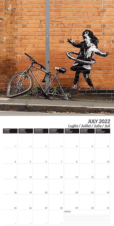 芸術家バンクシーの作品を凝縮した、おすすめの壁掛けカレンダー2022年版