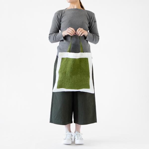 手仕事ならではの風合いが魅力の、おしゃれなデザインのリネン製トートバッグ