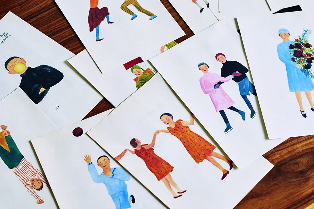 広告業界など幅広い分野で活躍する渡邉良重氏が描いた、おしゃれな壁掛けカレンダー2022年版